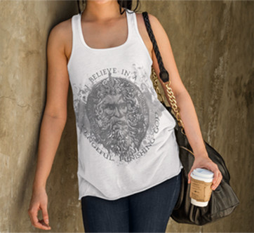 Vengeful, Punishing God all-over unisex tank
