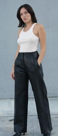 Bess women's leather trouser