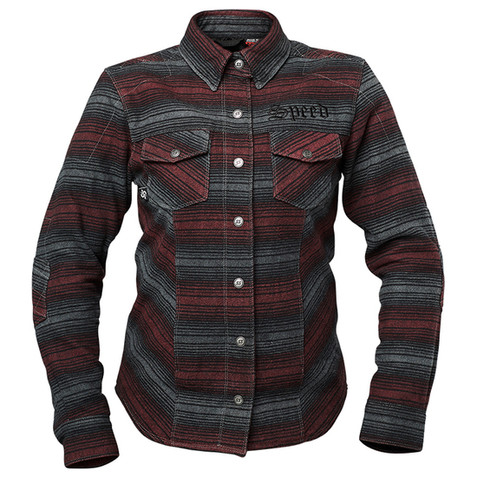 Speed and Strength Women's Brat Armored Flannel Shirt in Burgundy