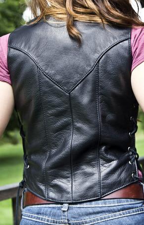 Fox Creek Leather Women's Custom Leather Vest - back