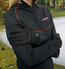 Warm & Safe Women's Heated Shirt Layer and Gloves