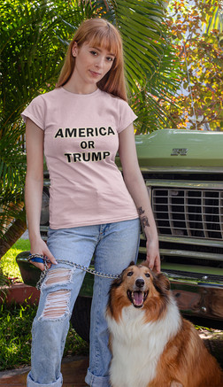 America or Trump unisex cotton tee shirt