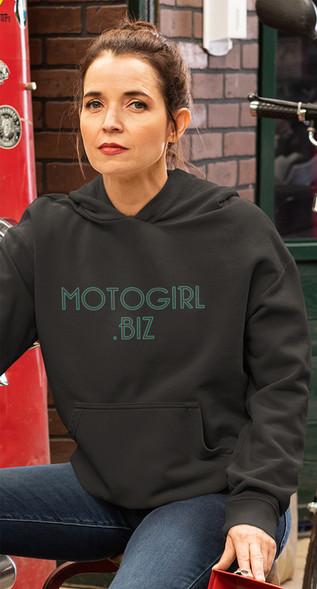 MotoGirl Dot Biz women's hoodie