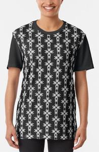 Celtic Christian Cross pattern unisex graphic tee