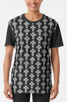 Celtic Christian Cross pattern unisex graphic tee