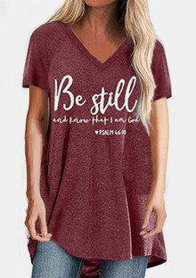 Psalm 46:10 Be still and know... women's v-neck
