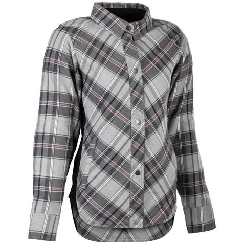Highway 21 Women's Rogue Flannel Shirt in Grey