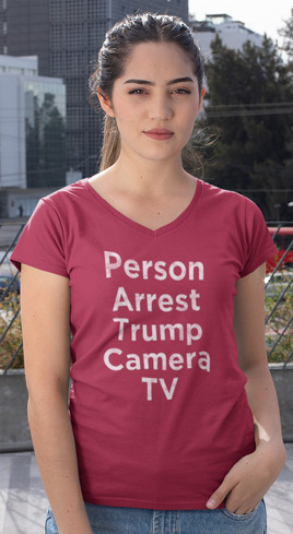 Person Arrest Trump Camera TV women's v-