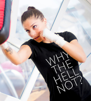 Why the Hell Not women's tee shirt
