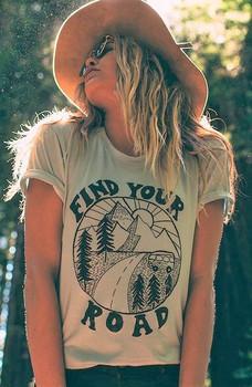 Find Your Road women's boyfriend tee