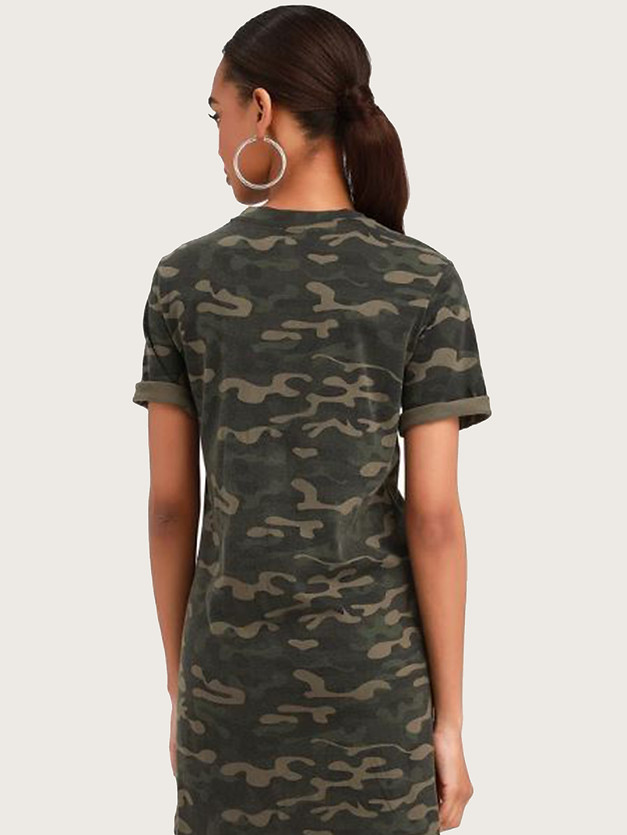 Salute Your Style Green Camo Print T-Shi