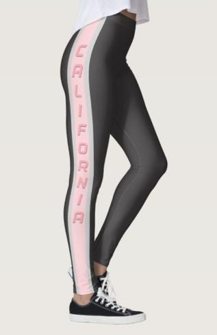 California Pink & Grey Women's Leggings