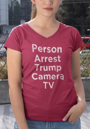 Person Arrest Trump Camera TV women's v-