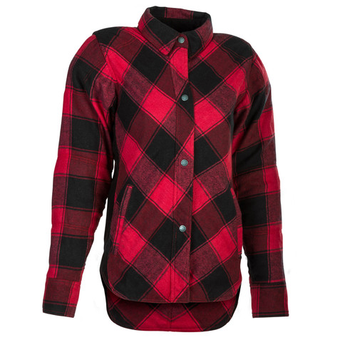 Highway 21 Women's Rogue Flannel Shirt in Red and Black