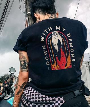 Down With My Demons women's tee