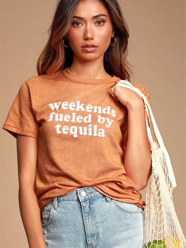 Weekend Fueled by Tequila women's tee.jp