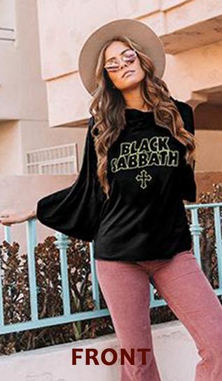 Black Sabbath Vintage Hoodie front