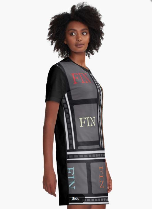 FIN graphic t-shirt dress