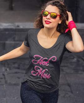 Hot Mess women's Scoop Neck Tee.jpg