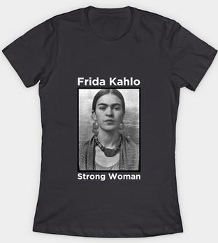 Frida Kahlo Strong Woman women's tee