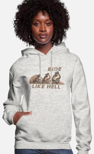 Ride Like Hell Women's Hoodie
