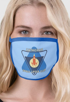 Lutheran Space Laser Club 2-Layer Face Mask