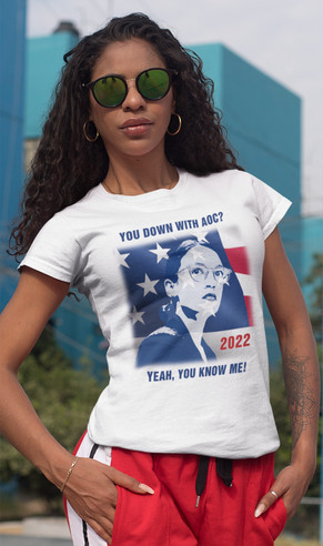 You Down with AOC 2022 unisex all cotton tee