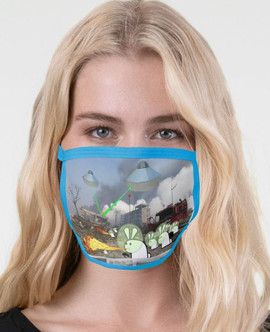 Cute Bunny Apocalypse 2-layer mask