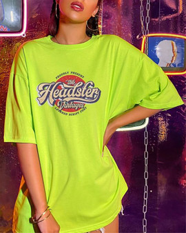 The Headster Vintages women's tee - lime