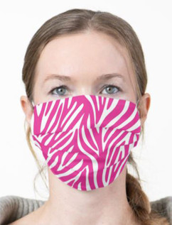 Pink Zebra 2-Layer face mask