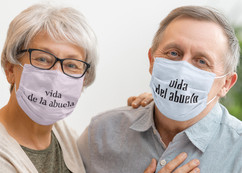Grandma and Grandpa Life 2-Layer face masks