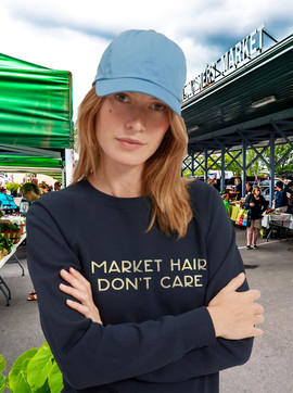Market Hair Don't Care ladies' sweatshir