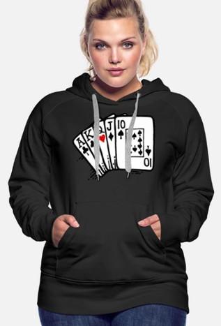 Queen of Hearts Women's Premium Hoodie