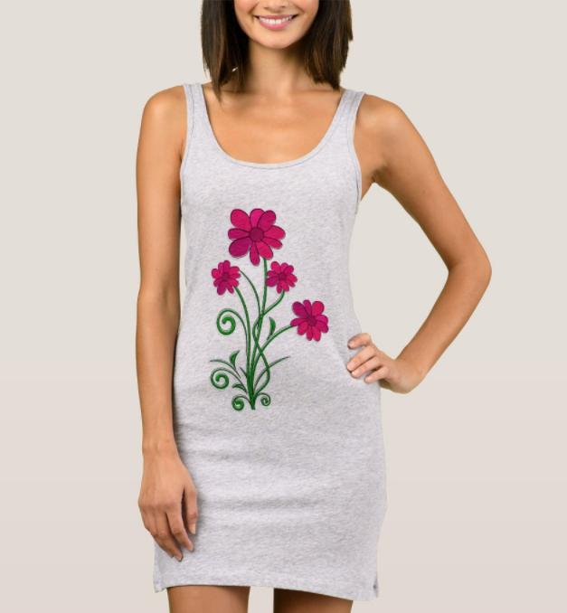 Four Flowers jersey cotton tank dress