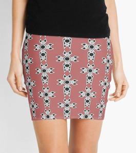 Celtic Christian Cross Mini Pencil Skirt