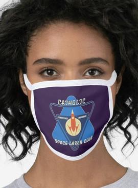 Catholic Space Laser Club 2-Layer Mask