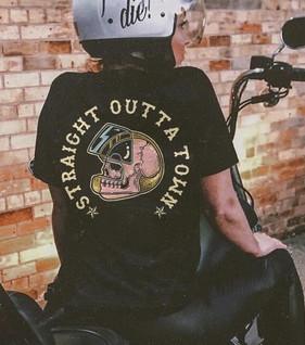 Straight Outta Town women's tee shirt.jpeg
