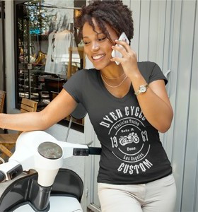 Dyer Cycle Precision Tuning Women's V-Neck Tee