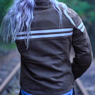 Viking Cycle Brown Leather Jacket for Wo
