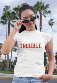 Trouble tee - red lettering.jpg