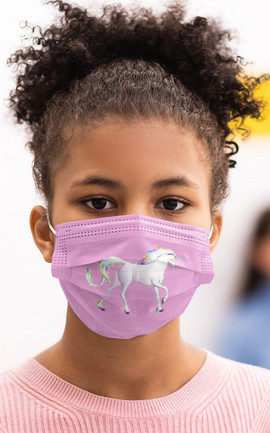 Unicorn 2-layer face mask