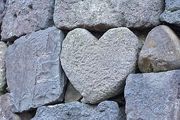 A Heart Stone on Stone Wall.jpg