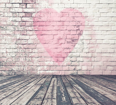 old room with brick wall graffiti heart, valentines day background.jpg