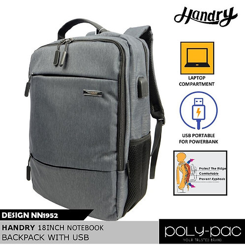 "WS-NN1952 Handry 18"" Notebook Backpack With USB port"