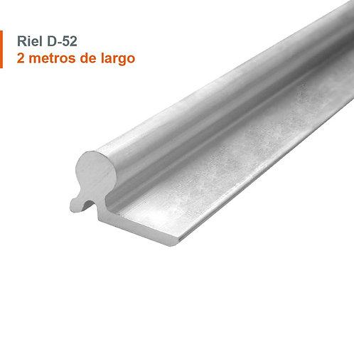 RIEL ALUMINIO D-52 2 MTS (10) 51031220024