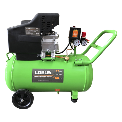 Compresor De Aire Lobus 3hp Reales 50 Litros Lb-3h50l