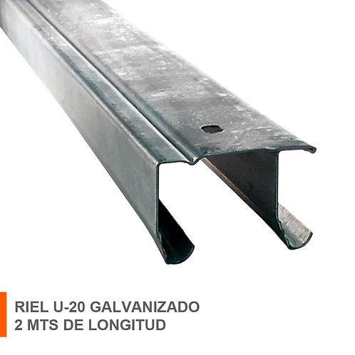 RIEL U-20 GALV. 2 MTS 10100621002