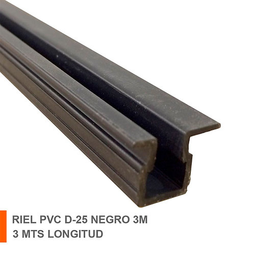 RIEL PVC D-25 NEGRO 3M (10) 61040060002