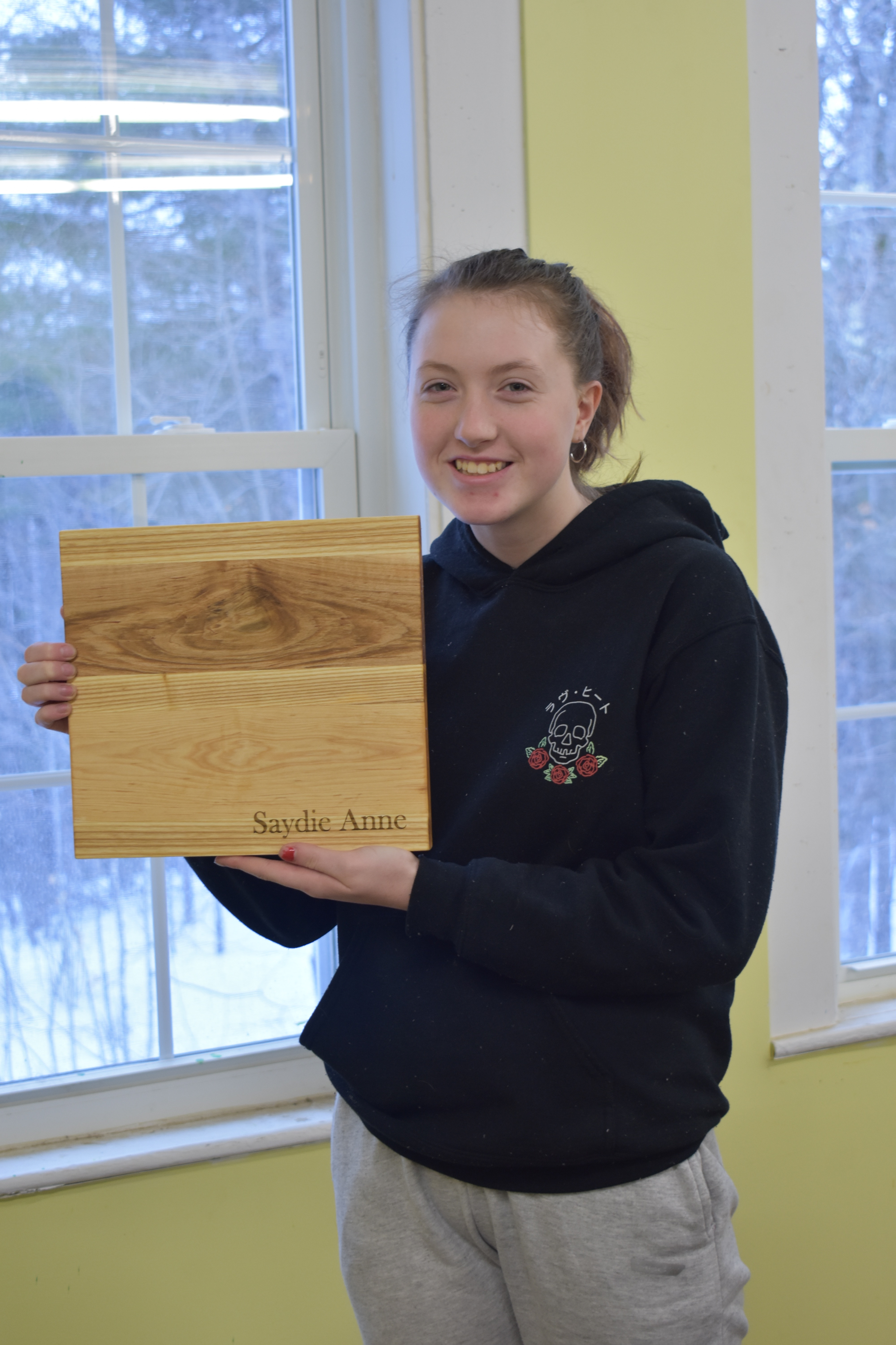 Saydie with Cutting Board