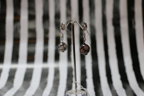 Spider Vein Quartz Earrings